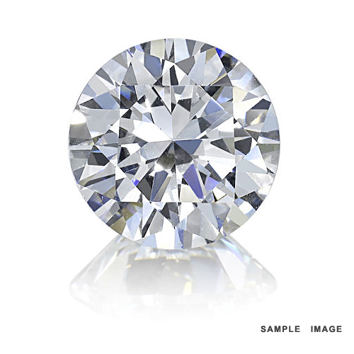 0.53 Carat Round Loose Diamond, K, I2, Excellent, IGI Certified