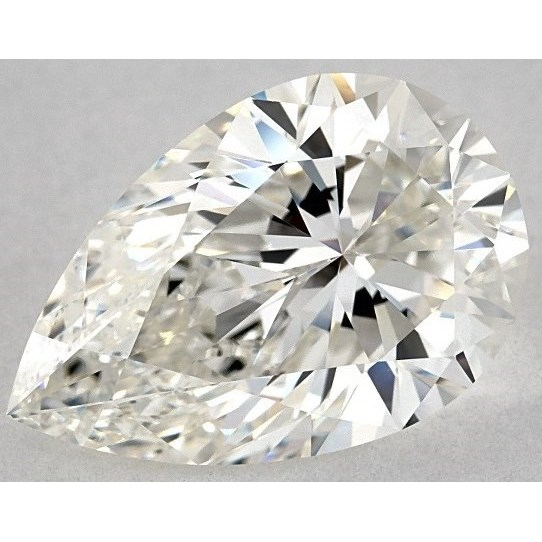 3.51 Carat Pear Loose Diamond, G, IF, Super Ideal, IGI Certified