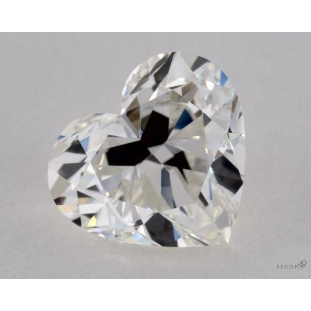 1.04 Carat Heart Loose Diamond, G, VVS2, Ideal, GIA Certified