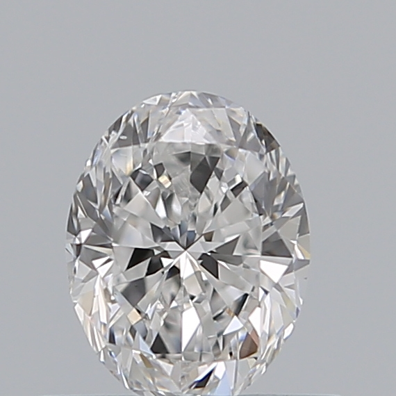 0.51 Carat Oval Loose Diamond, D, VS2, Excellent, GIA Certified