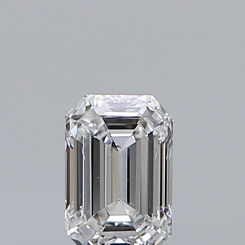 0.30 Carat Emerald Loose Diamond, D, VS2, Ideal, GIA Certified | Thumbnail