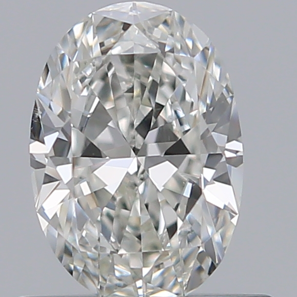 0.51 Carat Oval Loose Diamond, H, VS2, Ideal, GIA Certified