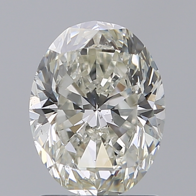 1.50 Carat Oval Loose Diamond, J, SI1, Excellent, GIA Certified