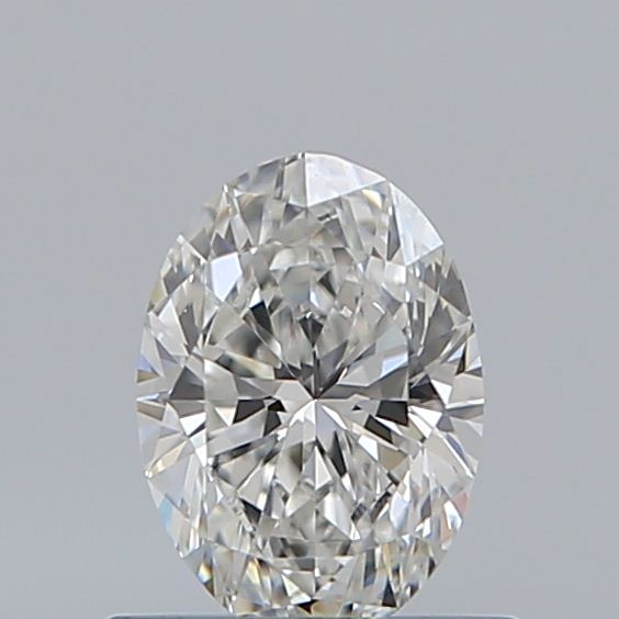 0.53 Carat Oval Loose Diamond, F, VVS2, Ideal, GIA Certified