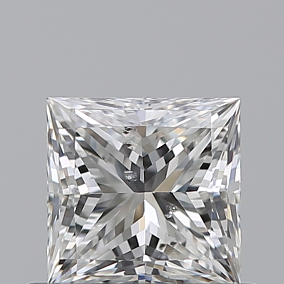 0.50 Carat Princess Loose Diamond, F, SI2, Super Ideal, GIA Certified