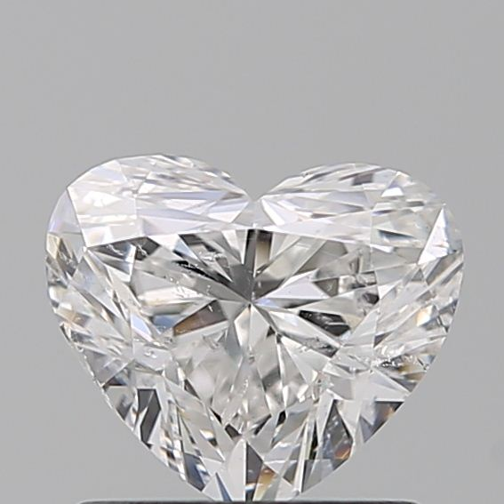 0.96 Carat Heart Loose Diamond, E, SI2, Excellent, GIA Certified