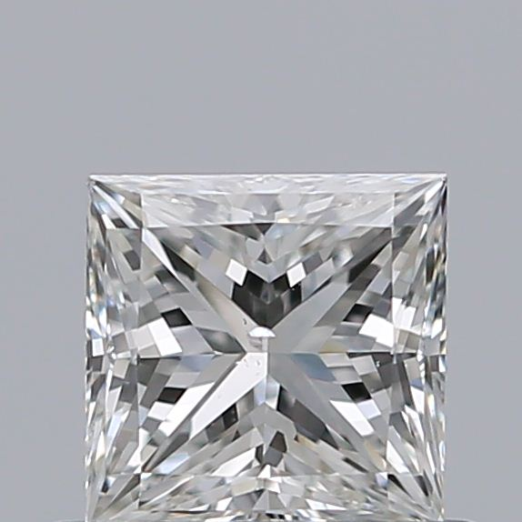 0.50 Carat Princess Loose Diamond, H, SI1, Ideal, GIA Certified