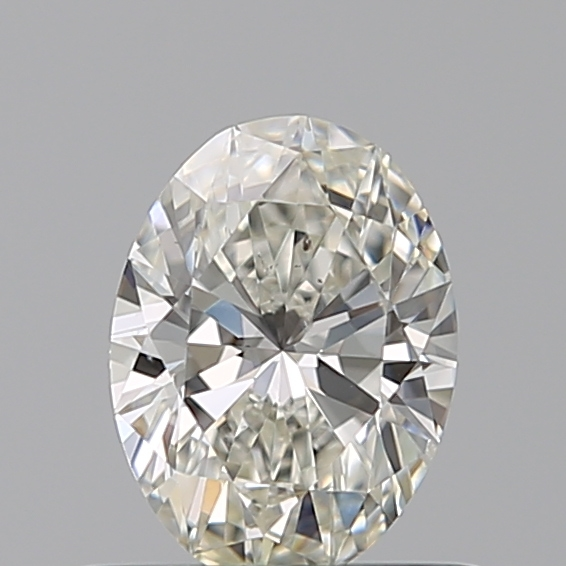 0.50 Carat Oval Loose Diamond, I, SI1, Super Ideal, GIA Certified