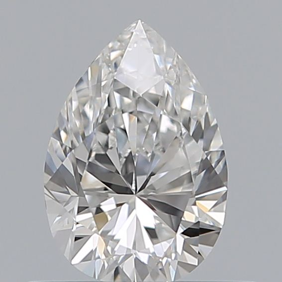 0.50 Carat Pear Loose Diamond, F, VVS2, Ideal, GIA Certified