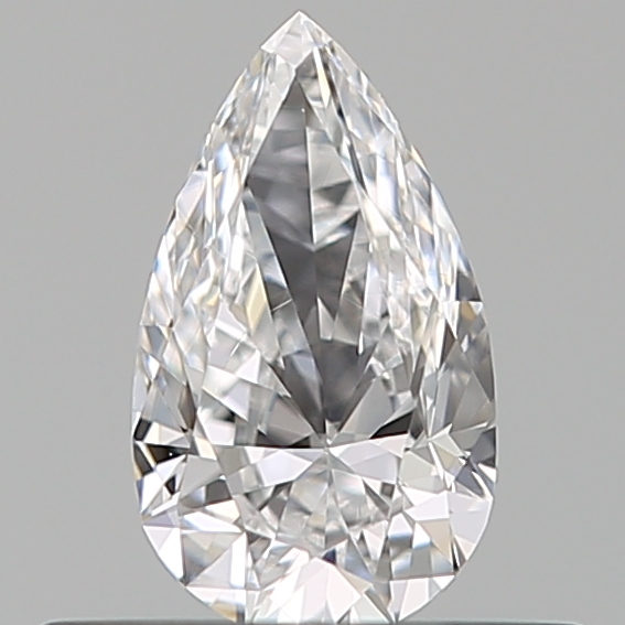 0.31 Carat Pear Loose Diamond, D, VVS2, Ideal, GIA Certified