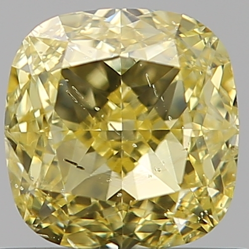 0.81 Carat Cushion Loose Diamond, FANCY, SI2, Excellent, GIA Certified