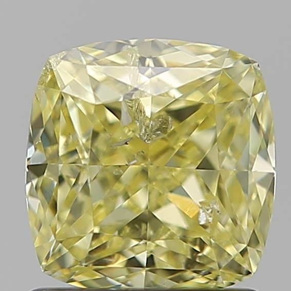 1.22 Carat Cushion Loose Diamond, FANCY, I2, Excellent, GIA Certified