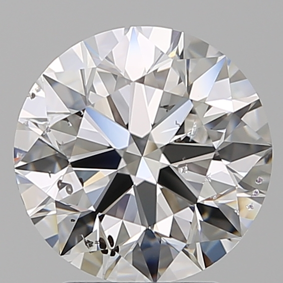 3.00 Carat Round Loose Diamond, D, SI2, Super Ideal, GIA Certified
