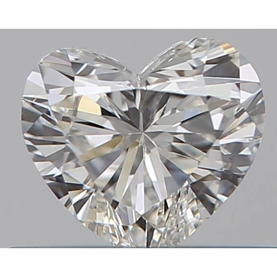 0.32 Carat Heart Loose Diamond, I, VS2, Ideal, GIA Certified | Thumbnail