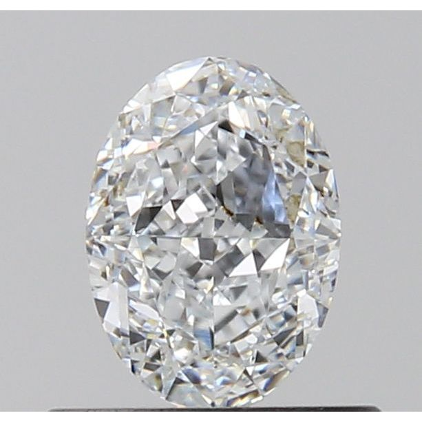 0.61 Carat Oval Loose Diamond, D, VVS2, Ideal, GIA Certified