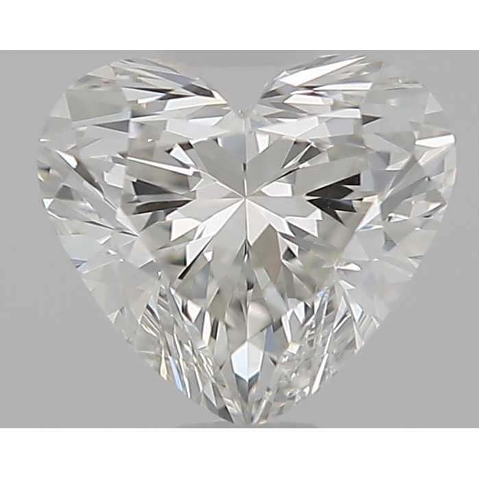 0.52 Carat Heart Loose Diamond, H, VS1, Super Ideal, GIA Certified | Thumbnail