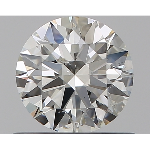 0.52 Carat Round Loose Diamond, J, SI2, Super Ideal, GIA Certified