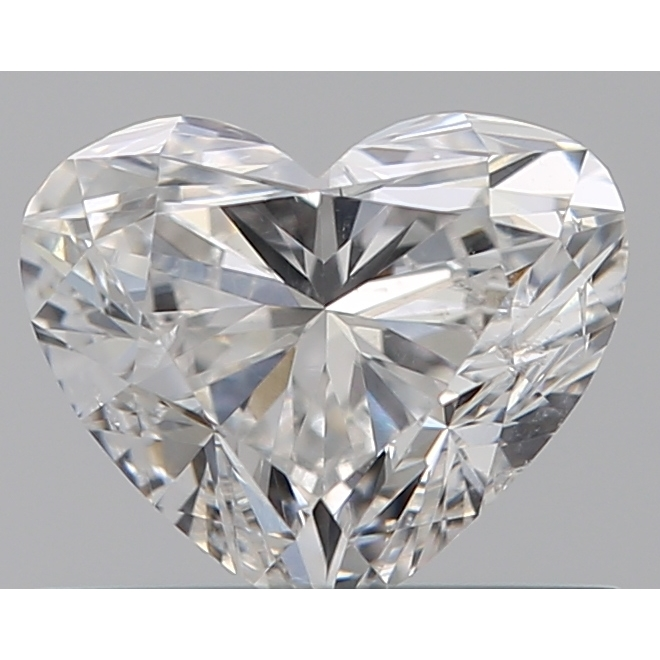 0.50 Carat Heart Loose Diamond, F, SI2, Ideal, GIA Certified