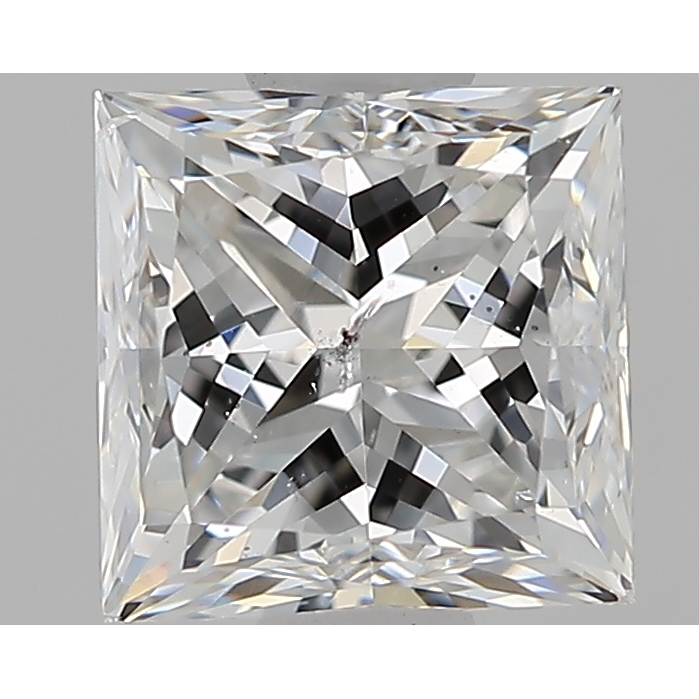 0.96 Carat Princess Loose Diamond, F, I1, Very Good, GIA Certified