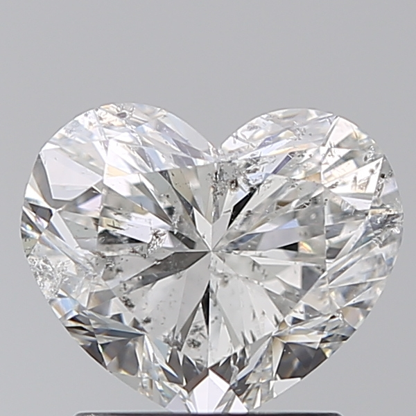 1.51 Carat Heart Loose Diamond, G, SI2, Excellent, IGI Certified