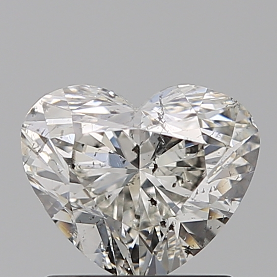 1.00 Carat Heart Loose Diamond, H, SI2, Excellent, IGI Certified | Thumbnail