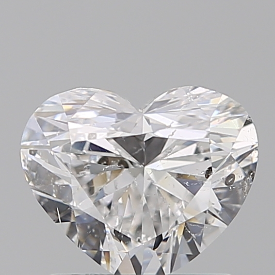 1.00 Carat Heart Loose Diamond, D, SI2, Ideal, IGI Certified