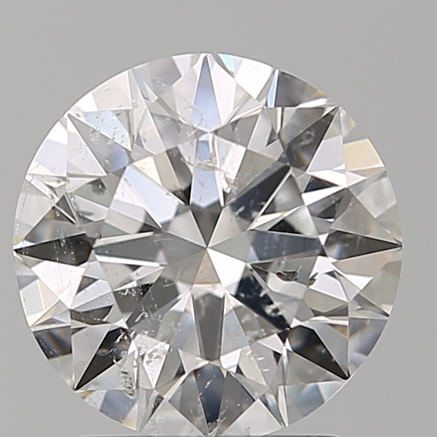 2.01 Carat Round Loose Diamond, E, SI2, Super Ideal, IGI Certified