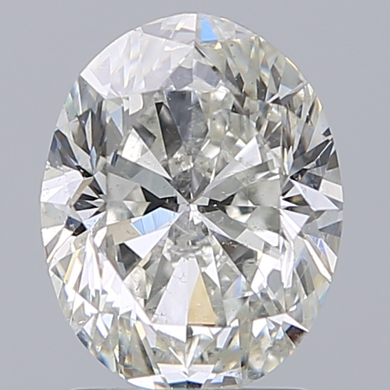2.00 Carat Oval Loose Diamond, I, SI2, Excellent, GIA Certified