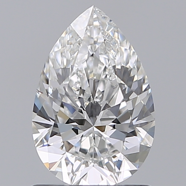 1.00 Carat Pear Loose Diamond, F, VVS2, Super Ideal, GIA Certified