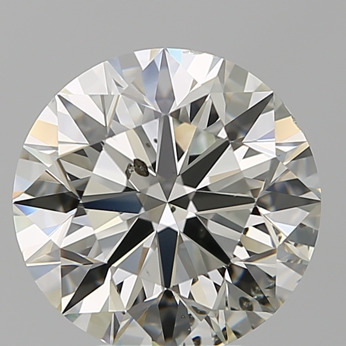 5.01 Carat Round Loose Diamond, J, SI2, Super Ideal, GIA Certified