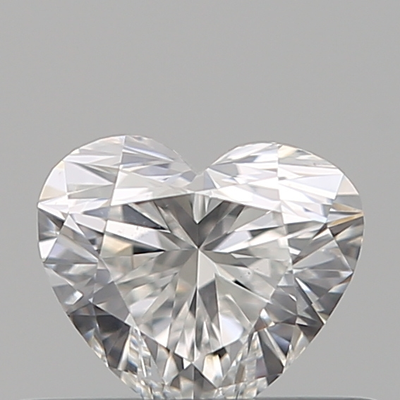 0.31 Carat Heart Loose Diamond, F, VS2, Ideal, GIA Certified | Thumbnail