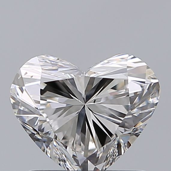 1.00 Carat Heart Loose Diamond, H, VS2, Ideal, GIA Certified