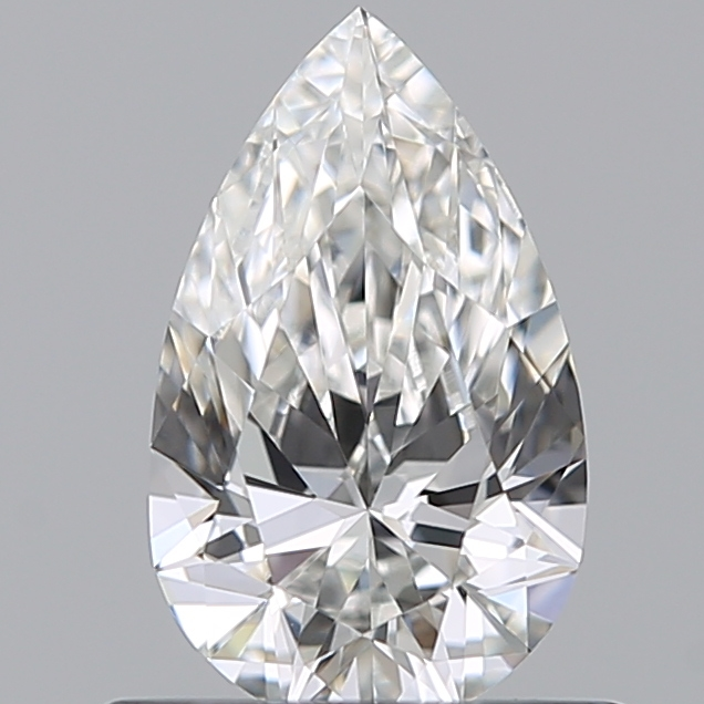 0.50 Carat Pear Loose Diamond, F, VVS1, Super Ideal, GIA Certified