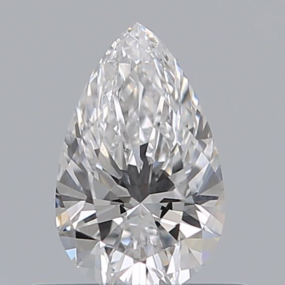 0.42 Carat Pear Loose Diamond, D, VVS1, Super Ideal, GIA Certified