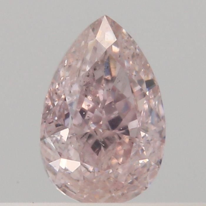 0.20 Carat Pear Loose Diamond, Fancy Pink, SI2, Excellent, GIA Certified