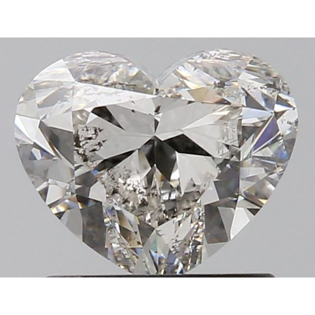 1.01 Carat Heart Loose Diamond, I, I1, Ideal, GIA Certified