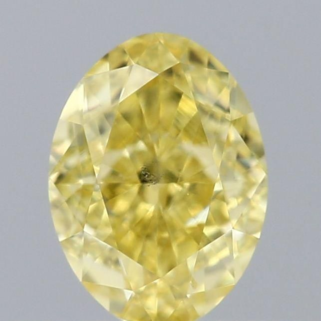 0.51 Carat Oval Loose Diamond, Yellow Yellow, VS2, Excellent, GIA Certified