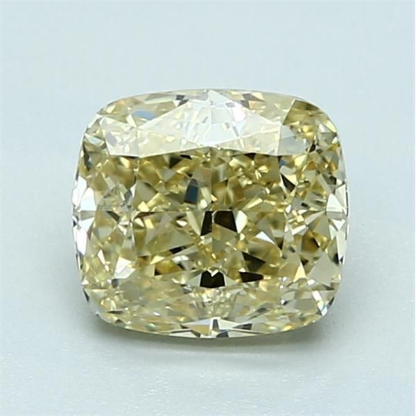 1.54 Carat Cushion Loose Diamond, FBY FBY, VVS2, Ideal, GIA Certified