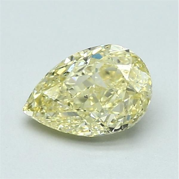 1.02 Carat Pear Loose Diamond, FY FY, SI1, Ideal, GIA Certified