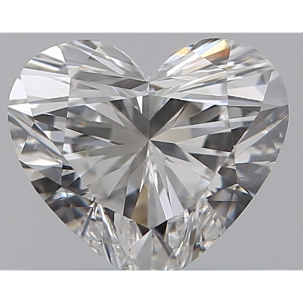 0.42 Carat Heart Loose Diamond, F, VS1, Super Ideal, GIA Certified | Thumbnail