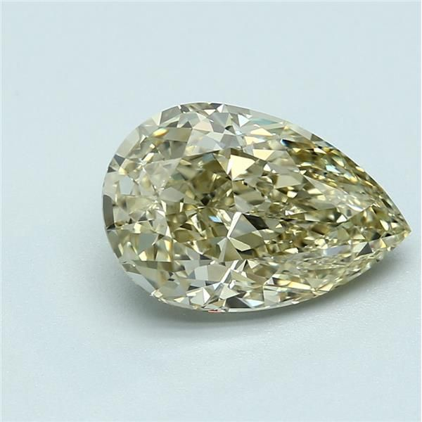 3.16 Carat Pear Loose Diamond, FBY FBY, VVS1, Ideal, GIA Certified