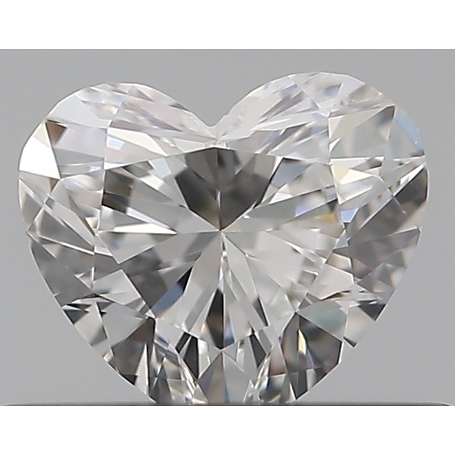 0.31 Carat Heart Loose Diamond, F, VVS2, Ideal, GIA Certified