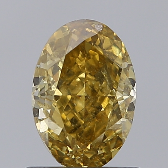 1.02 Carat Oval Loose Diamond, FANCY, SI2, Excellent, GIA Certified