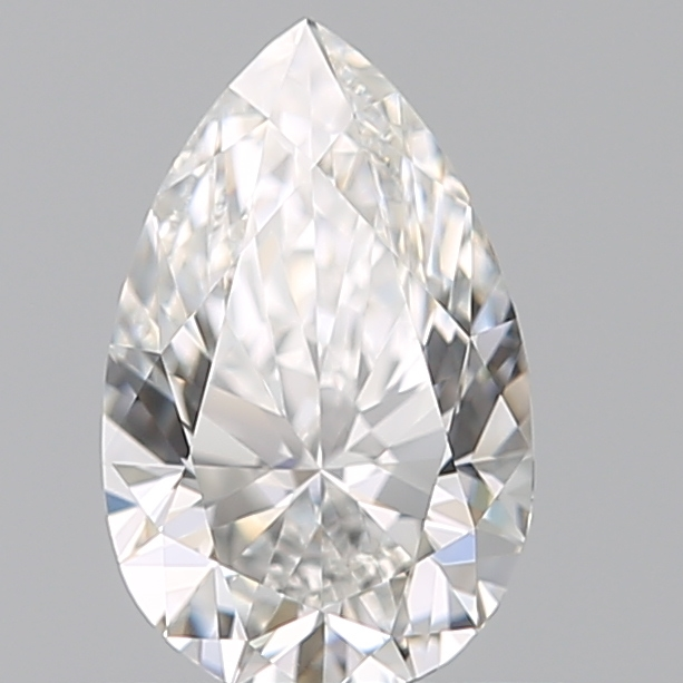 0.50 Carat Pear Loose Diamond, F, VVS2, Super Ideal, GIA Certified