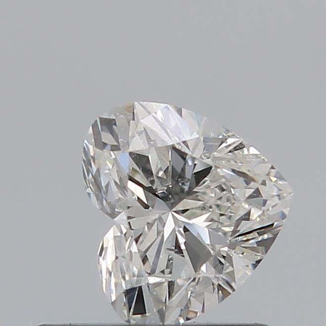 0.50 Carat Heart Loose Diamond, H, SI2, Super Ideal, GIA Certified