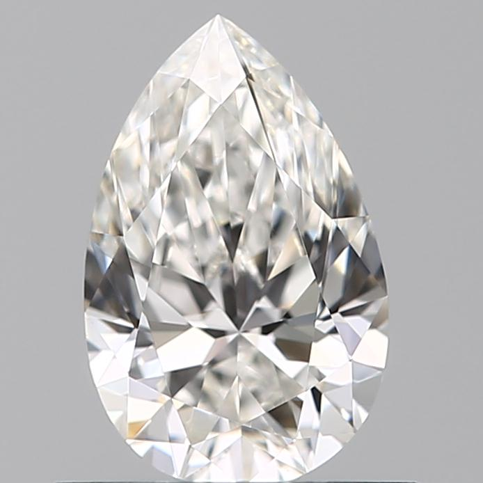 0.50 Carat Pear Loose Diamond, G, VVS1, Super Ideal, GIA Certified