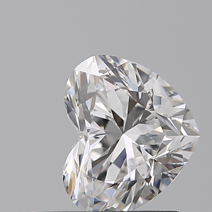 0.59 Carat Heart Loose Diamond, D, VS1, Super Ideal, GIA Certified