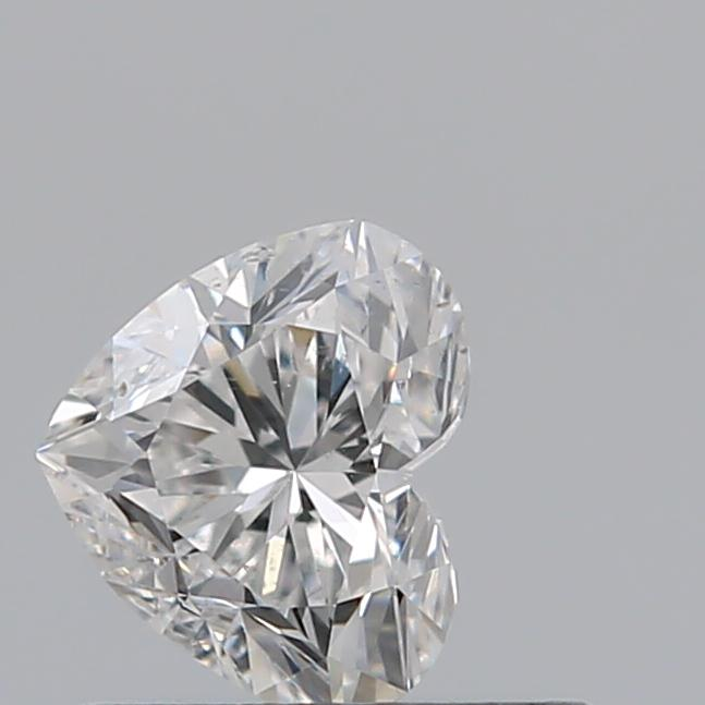 0.50 Carat Heart Loose Diamond, E, SI1, Excellent, GIA Certified
