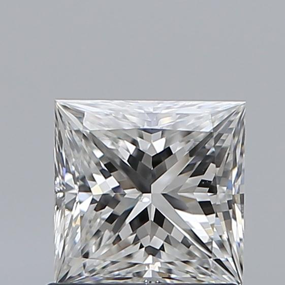 0.90 Carat Princess Loose Diamond, F, VS2, Super Ideal, GIA Certified