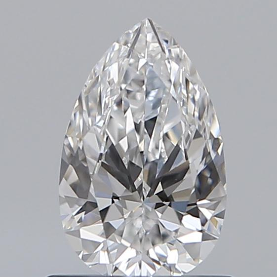0.70 Carat Pear Loose Diamond, D, VVS2, Super Ideal, GIA Certified